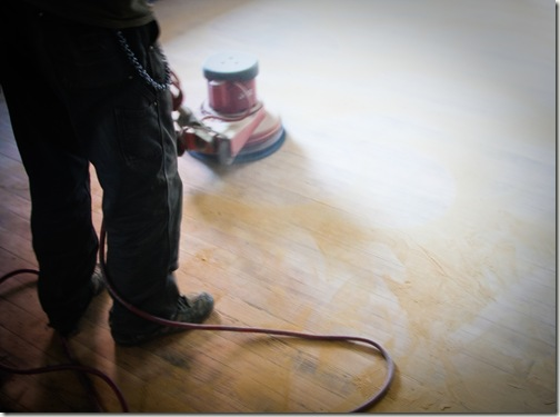 polishing floors at grace 2-1